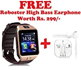 #10: Bluetooth Smart Watch Phone DZ09 With Camera and Sim Card Support With Apps like Facebook and WhatsApp Touch Screen Multilanguage Android/IOS Mobile Phone Wrist Watch Phone with activity trackers and fitness band Compatible With all Android Iphone Samsung Micromax Lenovo Xioami Mi HTC (Free Roboster High Bass Earphone Headset) - Assorted Color