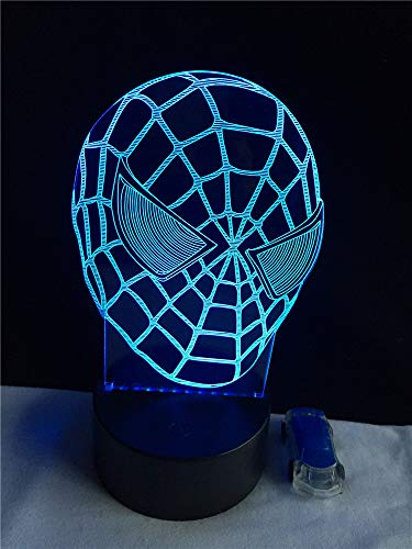 ZCMZCM Fashion LED 3D Light Movie Hero Miracle Big Spider Dead Pool Green Man Flying Man Home Decoration USB Night Light Atmosphere Christmas Gift