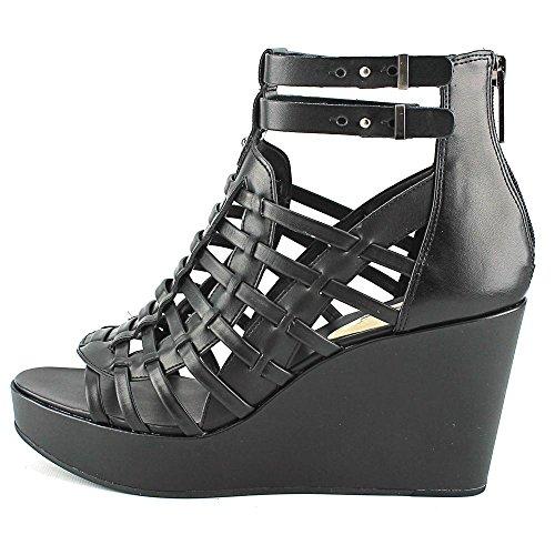 BCBGMAXAZRIA, Sandali donna Black Silky Leather
