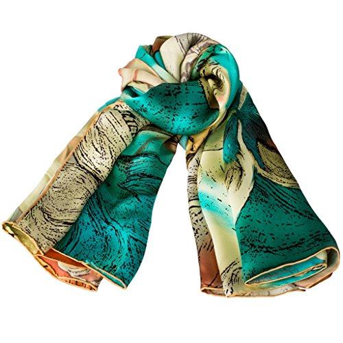serviette de plage Lady Silk Print Echarpe sauvage Mode Grande place ( Couleur : #6 ) #5