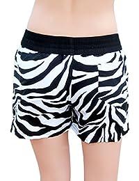5ab40c6f16aa Bao Core Short de Plage Bain Maillot de Bain Surf Sport Femme Homme Coton  Eté Grande Taille Imprimé Fleurs Short Piscine…