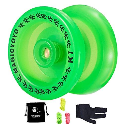 Responsive YoYo K1 Plus Light Up Professional Yoyo with Yoyo Sack + 3 Strings +Yo-Yo Glo