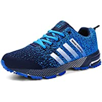 Kuako Men Women Running Shoes Air Trainers Fitness Casual Sports Walk Gym Jogging Athletic Sneakers Black