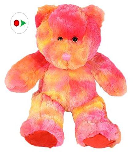 Stuffems Toy Shop Nehmen Sie Ihre eigene Plüsch 16-Zoll-Rosa und Gelb Tie Dye Bear - Ready 2 Liebe in EIN Paar einfachen Schritten - Baby-schritte Tie Dye