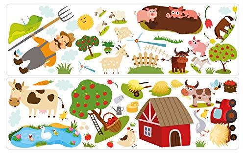 dekodino® Wall Sticker Farm Landscape Children's Room Wall Decoration