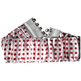 "Wide 4"" stretch Polka Dot Cinch Belt Retro 1050's Rockabilly White/Red"