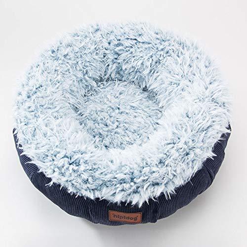 Lamzoom Deluxe Haustierbett für Katzen und kleine mittelgroße Hunde kuschelig mit weichem Kissen, rund oder 360 Grad umrandet, oval, Donut-Nisthöhle, Haustierbett -