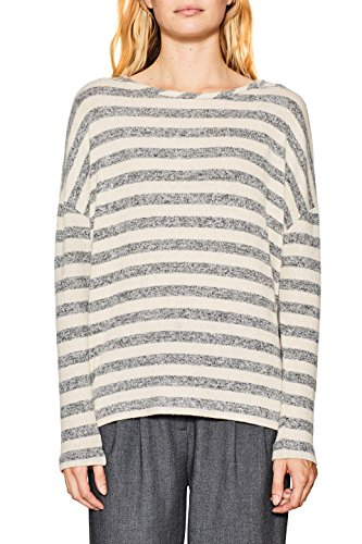 ESPRIT Damen Sweatshirt 117EE1J005, Mehrfarbig (Anthracite 010), Large