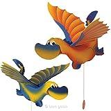 Flieger Drache groß Mobile Schwingfigur blau/gelb Woru 7732blau