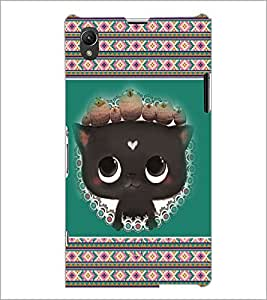 PrintDhaba Kitty D-3685 Back Case Cover for SONY XPERIA Z1 (Multi-Coloured)