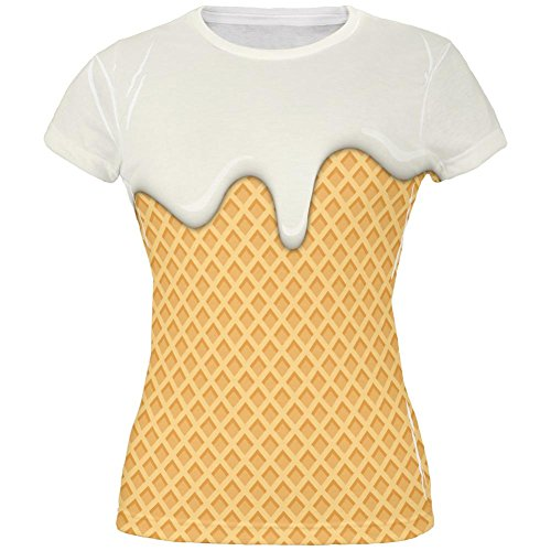 Vanilla Ice Cream Cone aller Junioren T Shirt schmelzen Multicoloured