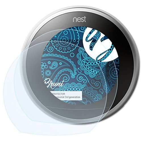 Bruni Screen Protector for Nest Thermostat (3rd generation) Protector Film - 2 x crystal clear Screen Protection Film