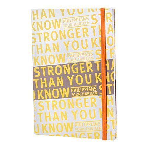 DaySpring Textured Softcover Journal Diary Notebook Journal with Elastic Band Closure, Stronger (42923) by DaySpring Company (Band Closure Elastic)