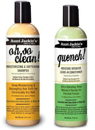 Aunt Jackie's Oh so Clean! Shampoo & Quench Leave-in Conditioner 12 Oz Each by Aunt Jackie's