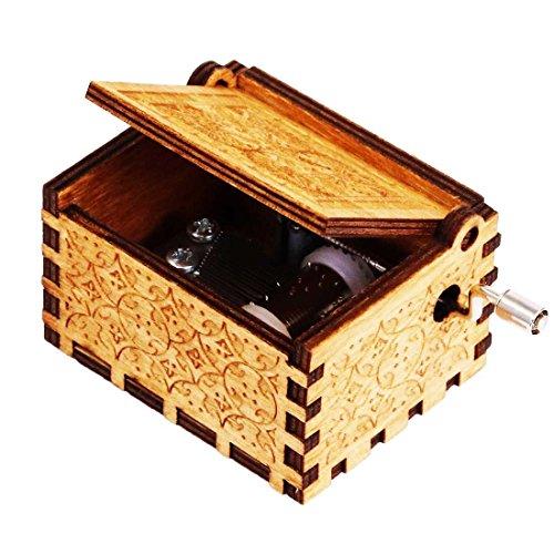 TokmaIi® Harry Hedwigs Thema Spieluhren Musik Box Handarbeit Eingraviert Hölzern Spieluhr Musikbox Ausgezeichnet Geschenke Dekoartikel Spielzeuge (Hochzeit Halloween-thema)