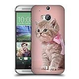 Head Case Designs Kätzchen Mit Rosa Fliege Katzen Ruckseite Hülle für HTC One M8 / M8 Dual Sim