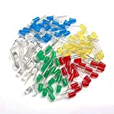 OULII 5mm redondas Superb Right emittierende Diodo LED luces Pack de 100,5Colores