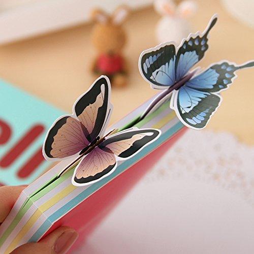 10pz Segnalibro Farfalle In carta