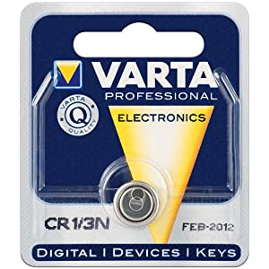 2er Set Varta CR 1/3 N Varta (6131) 1BL Lithium Batterie [Elektronik]