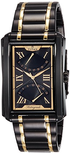 Titan Analog Black Dial Men's Watch - 1694KM02 image