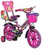 #7: eStofers® Ollmii™ Bikes, 14 Inch Kids Cycle With Side Wheels (Pink) For The Age Group Of 3 To 6 Years