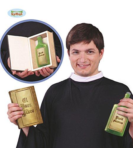 Priester Kostümzubehör Bibel mit versteckter Schnapsflasche Pastor Pfarrer Buch (Bibel Und Halloween)