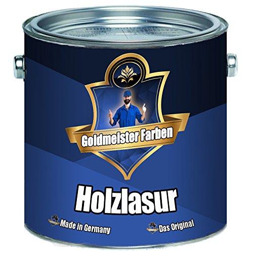 Goldmeister Farben Holzlasur meisterhafte Lasur in 12 verschiedenen Farbtönen Holzöl für Pflege von Holz (1 L, Ebenholz)
