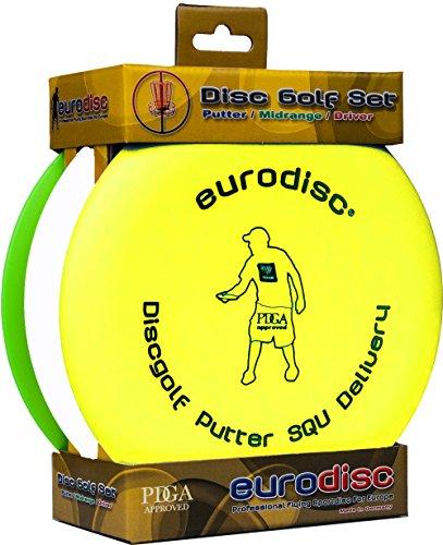 Eurodisc Disc-Golf Einsteiger Starterset, PDGA approved, Putter Midrange Driver Disc -