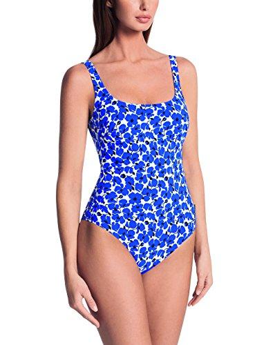 Rosa Faia Damen Einteiler Marle, Blau (French Blue 354), 44 (Herstellergröße:44 D) (Badeanzug Anita)