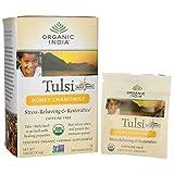 Tulsi Holy Basil Tea, Honey Chamomile, Caffeine-Free - Organic India - Qty 1