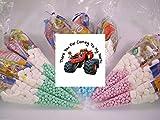 20x personalisierbar Blaze & die Monster Maschinen Mottoparty Pre gefüllt Sweet Zapfen Kids Party Taschen Starmix tangfastics Kinder Geburtstag