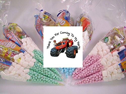 (20x personalisierbar Blaze & die Monster Maschinen Mottoparty Pre gefüllt Sweet Zapfen Kids Party Taschen Starmix tangfastics Kinder Geburtstag)