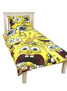 Character World Spongebob Squarepants Heads Single Panel Duvet Set