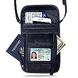 FREETOO Brustbeutel Brusttasche für Damen und Herren mehrfunktionaler Beutel Wasserdichte Umhängetasche RFID Diebstahlschutz wasserabweisend für Dienstreise Ausreise Passport Geld schwarz
