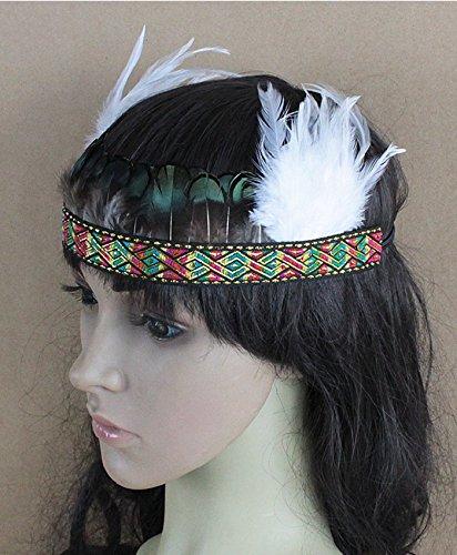 aukmla Vintage Feder Genickstück Headbands für Damen und Herren Hot Noble 1920er Fascinator Haar (Herren 1920 Für Outfits)