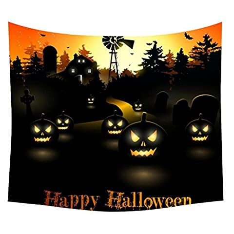 Anglewolf Halloween Beach Cover Up Towel Tunic Tapestry Wall Hanging Room Dorm Decor,59.1*47.2