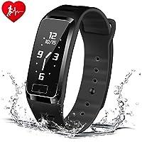 Braccialetto intelligente con 4 tipi di tempo Dispaly -HOMESTEC S4 Monitor della pressione sanguigna del polso Health Tracker Activity Fitness Wristband Pedometro per iPhoneX / 8/7 / 7Plus / 6 / 6s /