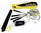 Carlton Tournament Badminton Set - Juego de bádminton (4 raquetas, red, postes, 3 volantes y funda)