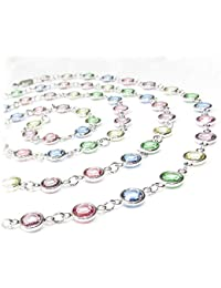 pewterhooter 103cm long necklace made with pastel coloured channel crystal from SWAROVSKI®.