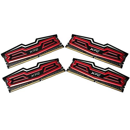 ADATA AX4U3000W8G16-QRD Dazzle DDR4 3000MHz (PC4-24000) CL16 32GB (8GBx4) LED Arbeitsspeicher Rot
