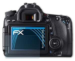 atFoliX Film Protection d'écran Canon EOS 70D Protecteur d'écran - Set de 3 - FX-Clear ultra claire