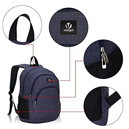 51pBBieFoLL. SS416  - Veevan School Bags Mochila para niños Mochila para universitarios Mochila para portátil para niñas