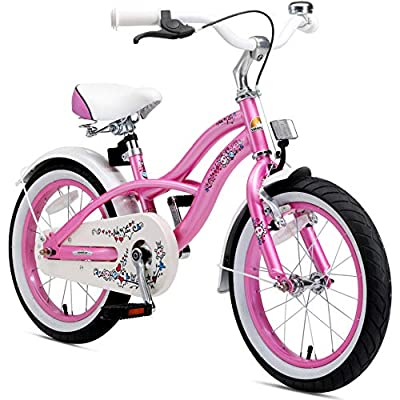BIKESTAR Kinderfahrrad für Mädchen ab 4-5 Jahre | 16 Zoll Kinderrad Cruiser | Fahrrad für Kinder