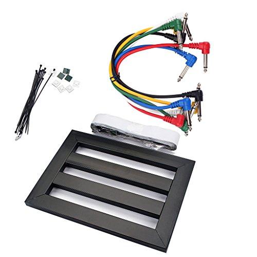 Homyl Guitar Effect Pedal Board mit 6 Stück Gitarre Effektpedal Kabel Patchkabel rechtwinklig Ampere Kabel
