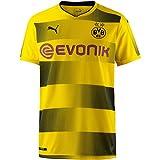 PUMA Erwachsene BVB Home Replica with Sponsor Logo Shirt, Cyber Yellow Black, XL