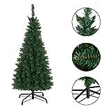 GOPLUS Hochwertiger PVC Künstlicher Weihnachtsbaum Grüner Tanne Christbaum Weihnachtsdeko mit Metallständer (120 cm)