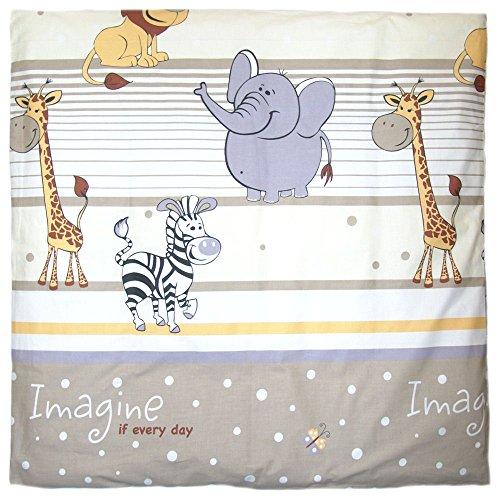 Deko Kissenbezug für Baby Kind Bezug für Kissen 80x80 cm D25