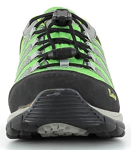 kastinger Mountain Low K impermeabile bambini Outdoor della scarpa, K Gore-Tex ® per Impermeabilità e traspirazione, Ganci per stringhe green/grey/lime