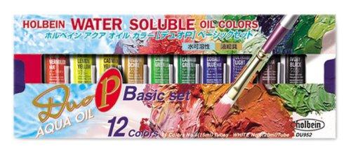 Duo Aqua Oil Color (Holbein Aqua Oil Color DUO P Basic Set 15ml (japan import))