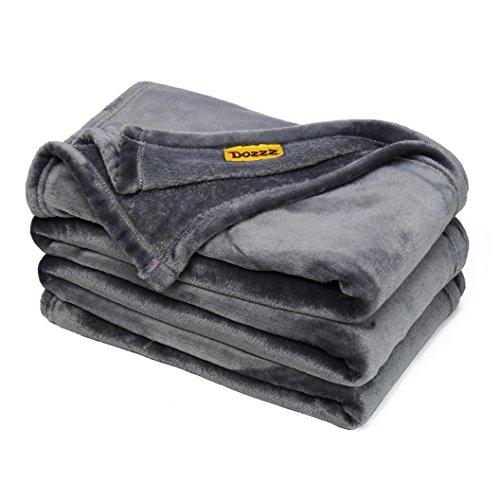 Manta-caliente-velloso-super-suave-DOZZZ-cobertor-de-tiro-para-sof-Manta-de-terciopelo-de-felpa-de-peso-ligero-lavado-a-maquina-198-x-147-CM-gris